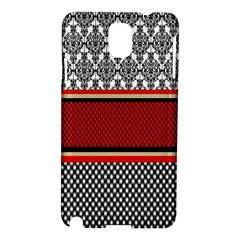 Background Damask Red Black Samsung Galaxy Note 3 N9005 Hardshell Case