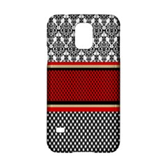 Background Damask Red Black Samsung Galaxy S5 Hardshell Case