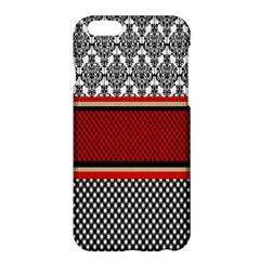 Background Damask Red Black Apple iPhone 6 Plus/6S Plus Hardshell Case