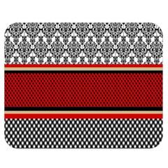 Background Damask Red Black Double Sided Flano Blanket (Medium)