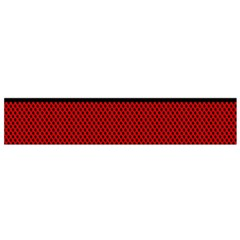 Background Damask Red Black Flano Scarf (Small)