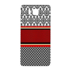 Background Damask Red Black Samsung Galaxy Alpha Hardshell Back Case