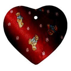 Background Fabric Ornament (Heart)