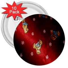 Background Fabric 3  Buttons (10 pack)