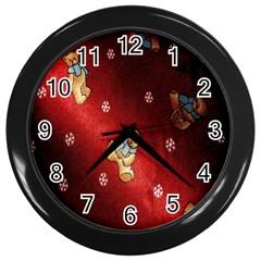 Background Fabric Wall Clocks (Black)