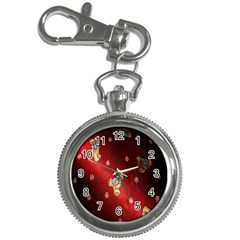 Background Fabric Key Chain Watches