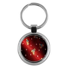 Background Fabric Key Chains (Round)