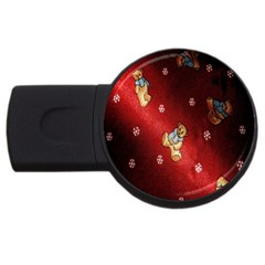 Background Fabric USB Flash Drive Round (2 GB)