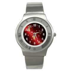 Background Fabric Stainless Steel Watch