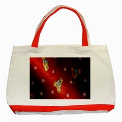 Background Fabric Classic Tote Bag (red)
