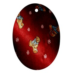 Background Fabric Oval Ornament (Two Sides)