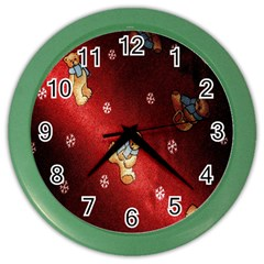 Background Fabric Color Wall Clocks