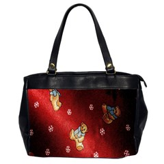 Background Fabric Office Handbags (2 Sides)