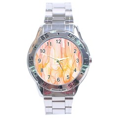 Background Modern Computer Design Stainless Steel Analogue Watch