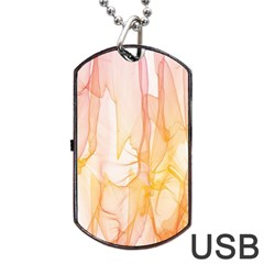 Background Modern Computer Design Dog Tag USB Flash (One Side)