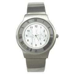 Background Modern Computer Design Stainless Steel Watch
