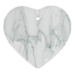 Background Modern Computer Design Heart Ornament (Two Sides)