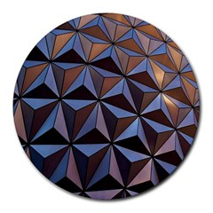 Background Geometric Shapes Round Mousepads