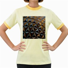 Background Geometric Shapes Women s Fitted Ringer T-Shirts