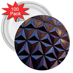 Background Geometric Shapes 3  Buttons (100 Pack)