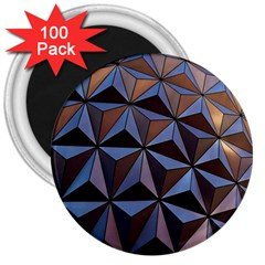 Background Geometric Shapes 3  Magnets (100 pack)