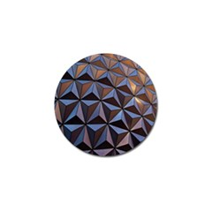 Background Geometric Shapes Golf Ball Marker (10 pack)