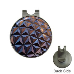 Background Geometric Shapes Hat Clips with Golf Markers