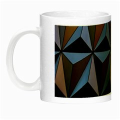 Background Geometric Shapes Night Luminous Mugs