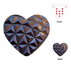Background Geometric Shapes Playing Cards (Heart)