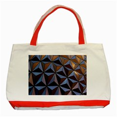 Background Geometric Shapes Classic Tote Bag (Red)