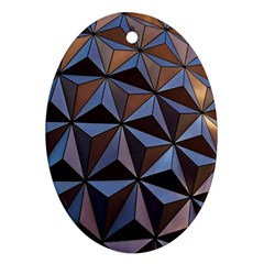 Background Geometric Shapes Oval Ornament (Two Sides)