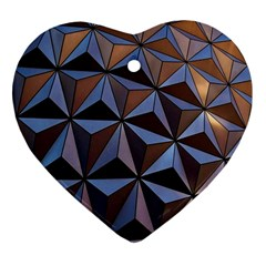Background Geometric Shapes Heart Ornament (Two Sides)