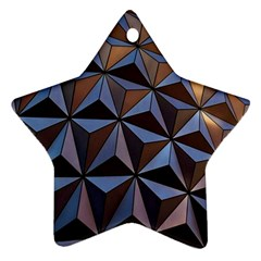 Background Geometric Shapes Star Ornament (Two Sides)