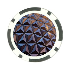 Background Geometric Shapes Poker Chip Card Guard
