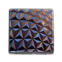 Background Geometric Shapes Memory Card Reader (Square)