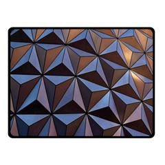 Background Geometric Shapes Fleece Blanket (Small)