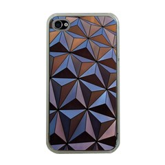 Background Geometric Shapes Apple iPhone 4 Case (Clear)