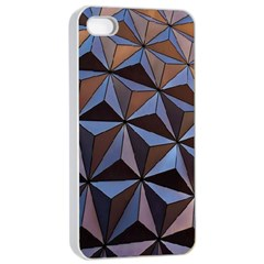 Background Geometric Shapes Apple Iphone 4/4s Seamless Case (white)