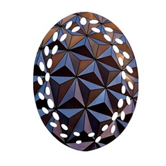 Background Geometric Shapes Oval Filigree Ornament (two Sides)