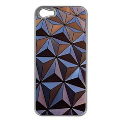 Background Geometric Shapes Apple iPhone 5 Case (Silver)