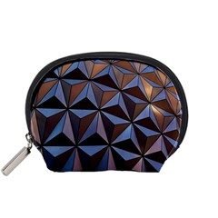 Background Geometric Shapes Accessory Pouches (small)
