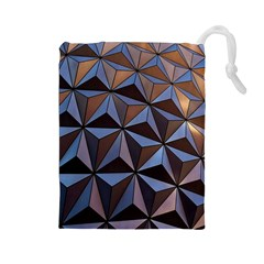 Background Geometric Shapes Drawstring Pouches (large)