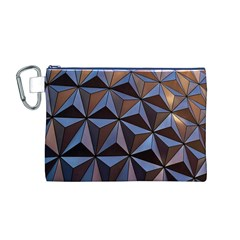 Background Geometric Shapes Canvas Cosmetic Bag (M)