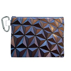 Background Geometric Shapes Canvas Cosmetic Bag (XL)