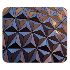 Background Geometric Shapes Double Sided Flano Blanket (Small)