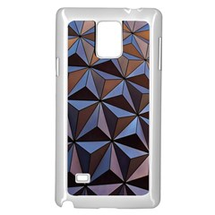 Background Geometric Shapes Samsung Galaxy Note 4 Case (White)