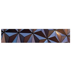 Background Geometric Shapes Flano Scarf (Small)