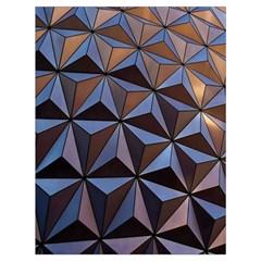 Background Geometric Shapes Drawstring Bag (Large)
