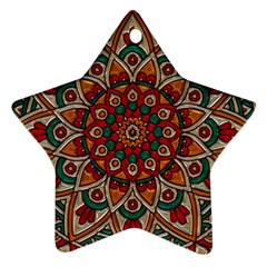 Background Metallizer Pattern Art Ornament (Star)