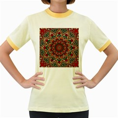 Background Metallizer Pattern Art Women s Fitted Ringer T-Shirts
